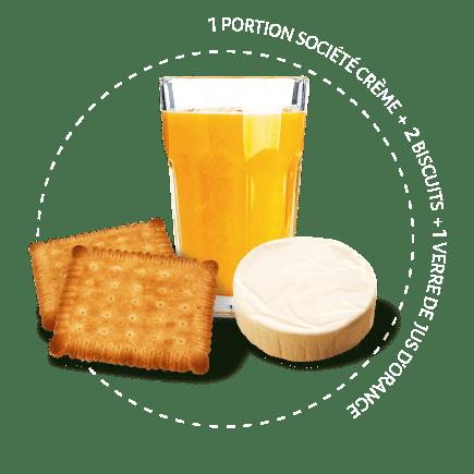 goûter jus d'orange petit beurre