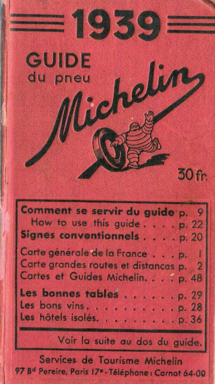 Des guides Michelin