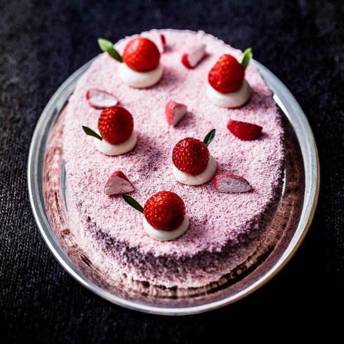 cake fraise et fraise tagada