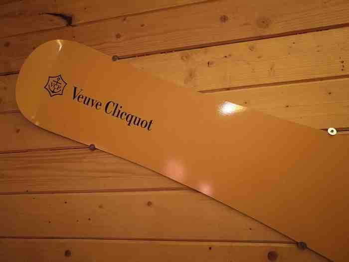 Le chalet Veuve Clicquot de La Table du Huit