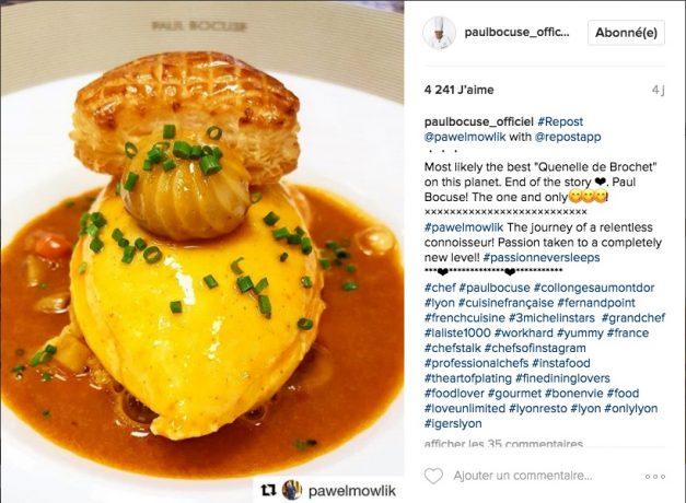 comptes instagram chef