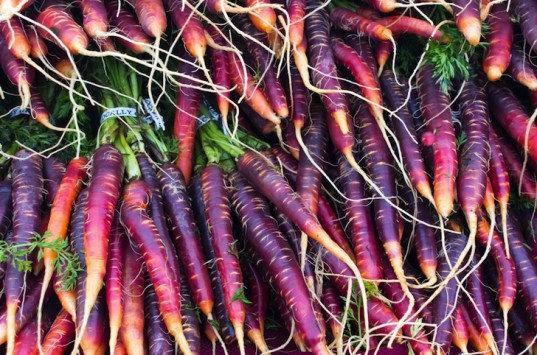 Les carottes colorées