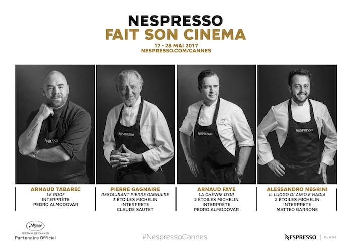 Les Chefs Nespresso de Cannes 2017