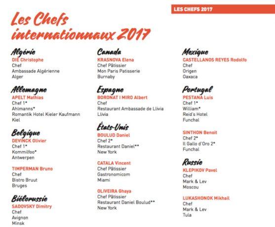 Les étoiles de Mougins 2017 - chefs
