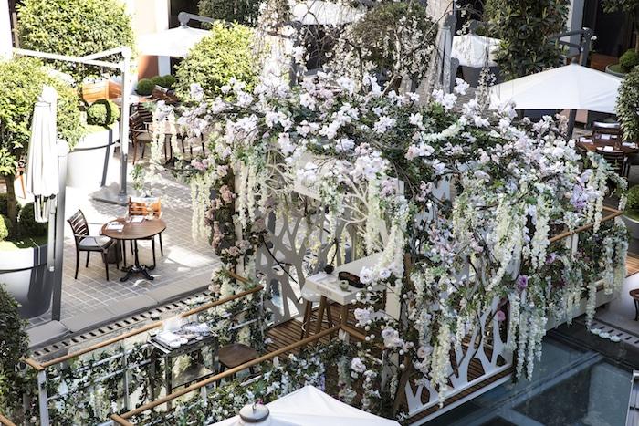 Le jardin suspendu Belvedere au Royal Monceau