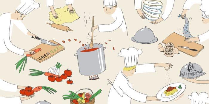Fête de la Gastronomie Uber Eats