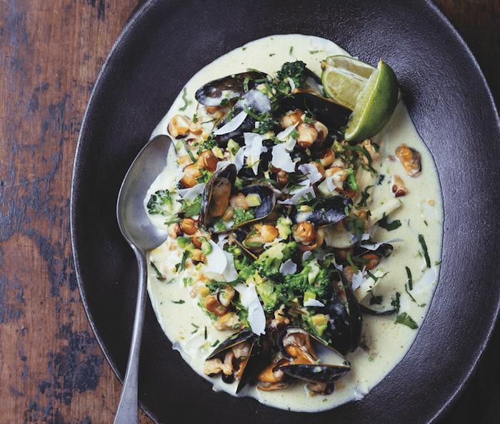 Curry vert de maïs de Julien Duboué