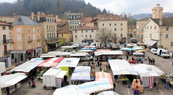 Eric Jambon au marché de Bourgoin-Jallieu