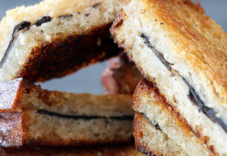 Le sandwich tiède à la truffe fraîche