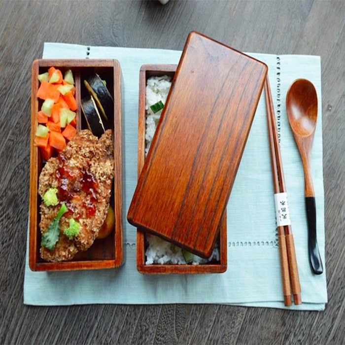 Boîte Bento en bois de Bento World