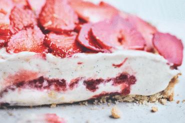 Tarte aux fraises, crème gourmande de Christophe Adam