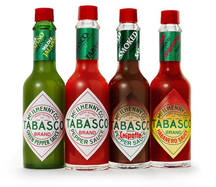 différentes recettes de Tabasco
