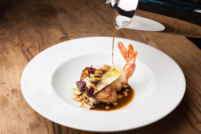 foie gras et crabe de Clément Collet