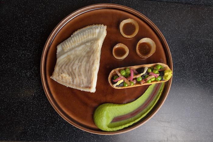 Turbot et pancetta