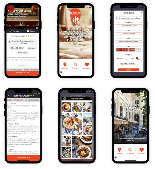 Appli Paris Foodies