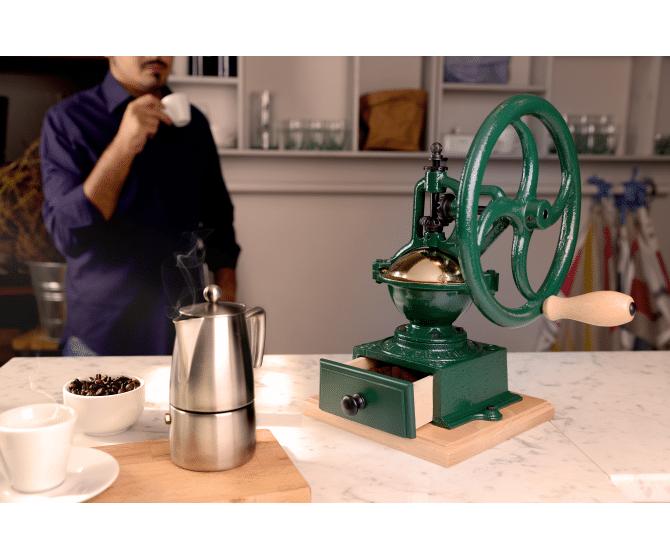 Le moulin à café à roue Tre Spade, unique et vintage !