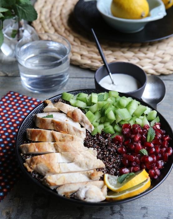 recette de bowl au poulet