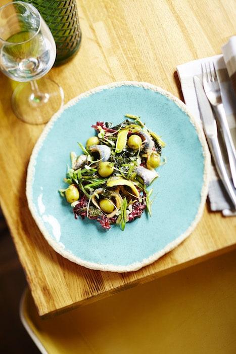 recette salade olives sardines