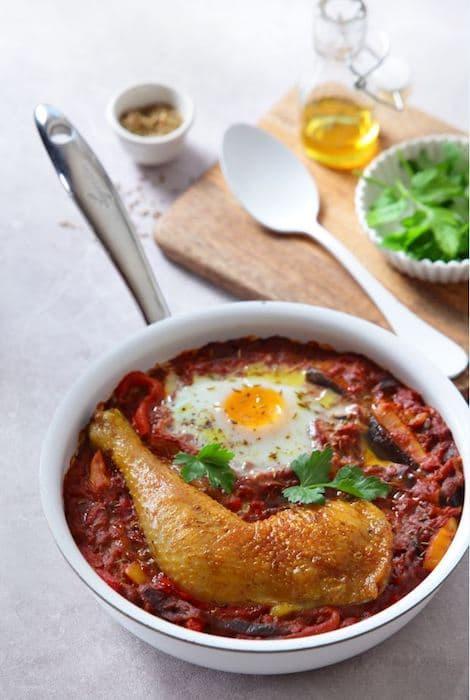 recette de Chatchouka au poulet