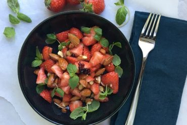 Salade de fraises au basilic