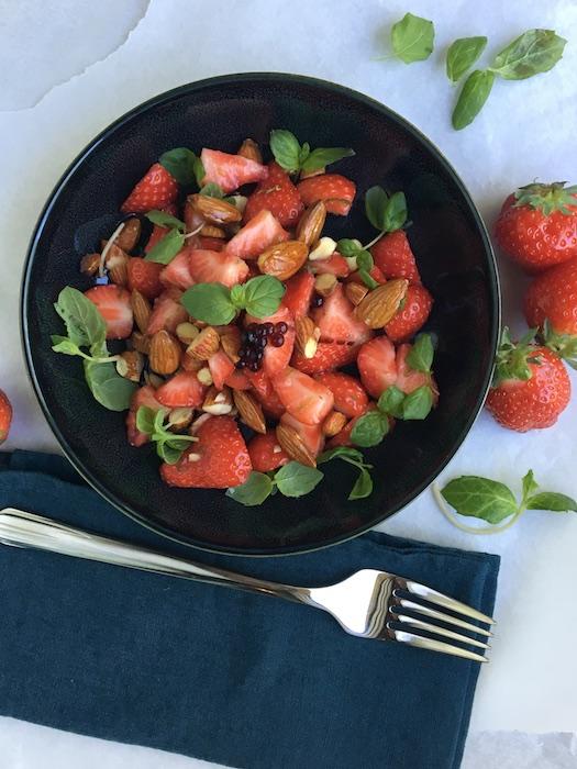 recette de salade de fraise
