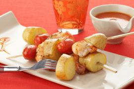 Brochettes de pommes de terre