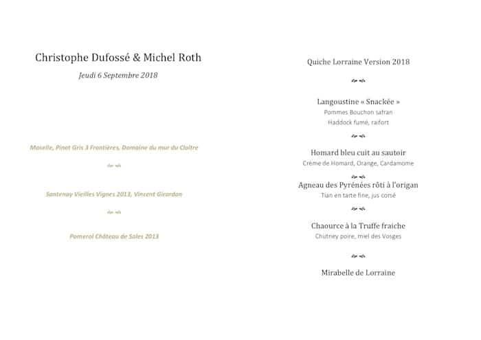 Christophe Dufossé en cuisine avec Michel Roth