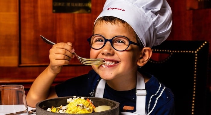 menu enfants au Fouquet's