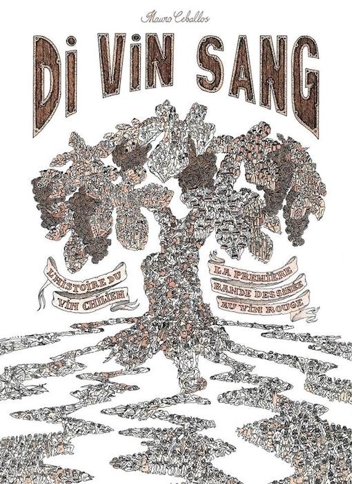 première bande dessinée au vin rouge