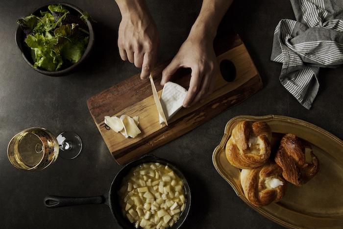 Buns au Brie et aux poires