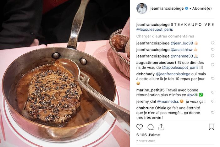 Steak au poivre Jean-François Piège