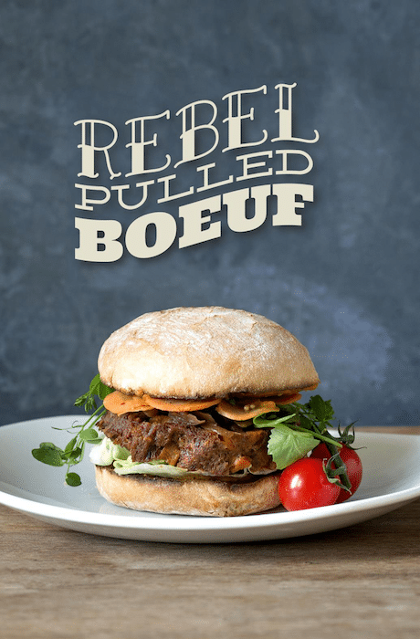 Rebel Pulled Burger Ellis Gourmet Burger