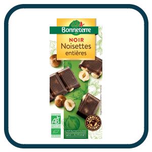 Chocolat Noir Noisettes Entières de