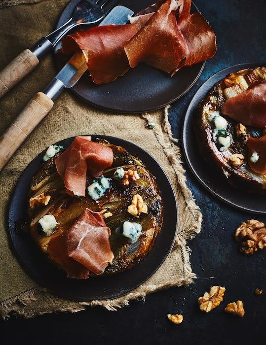 Tatins Endive-Roquefort au jambon Consorcio Serrano