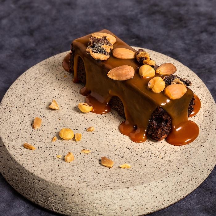 Brownie au chocolat et caramel demi-sel