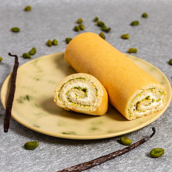 recette de bûche à la pistache
