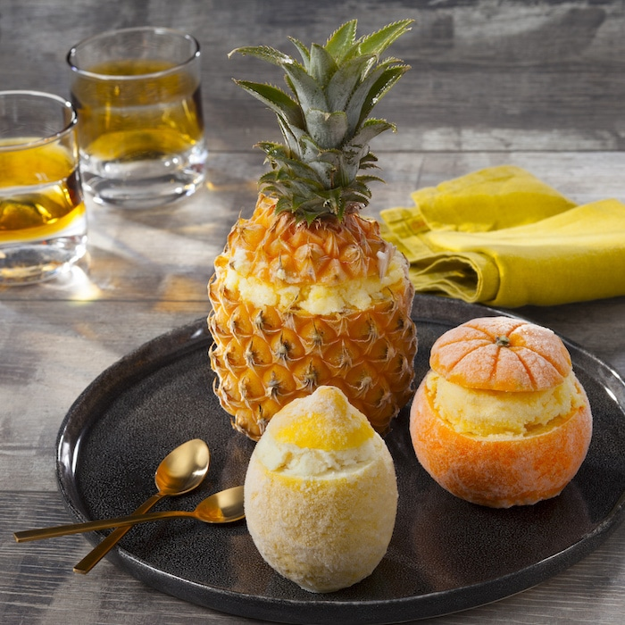 Ananas orange et citrons givrés