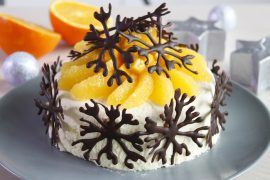 Gâteau glacé chocolat blanc