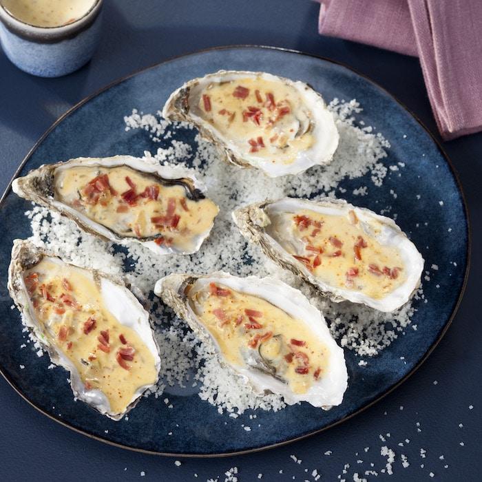 recette huîtres chaudes