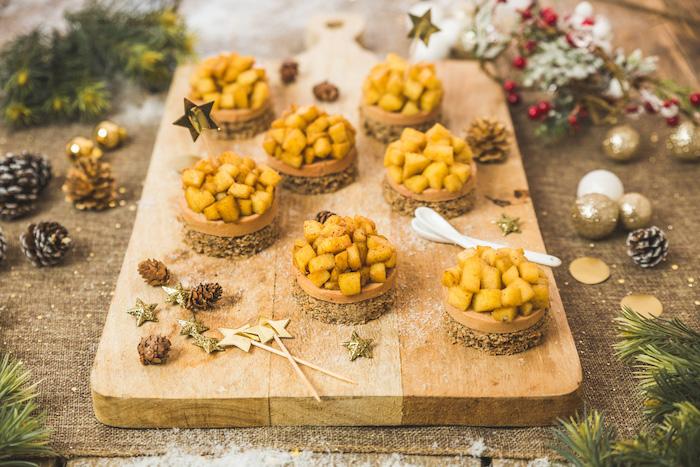 recette mini Tatin au foie gras