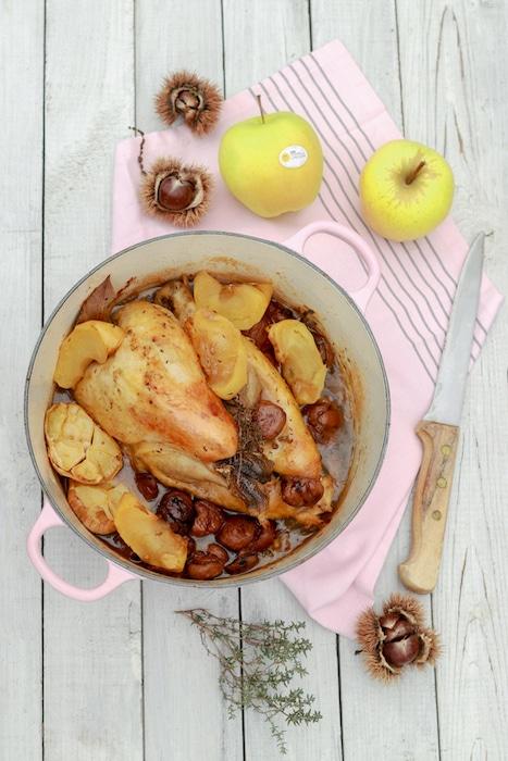recette de Pintade aux pommes