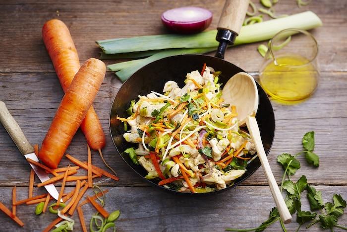 recette de Wok de poulet sauté au soja