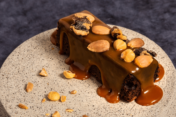 Brownie au chocolat et caramel