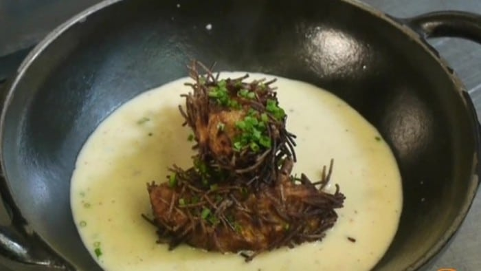 Velouté Asperges et foie gras