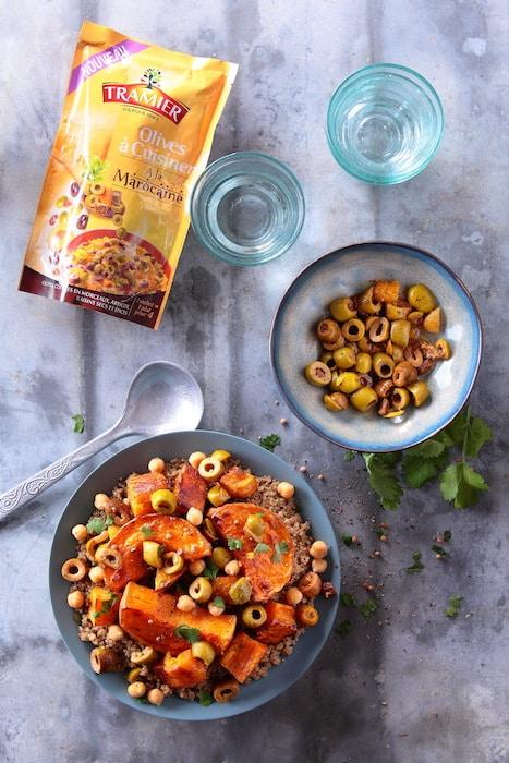 couscous végétarien aux olives
