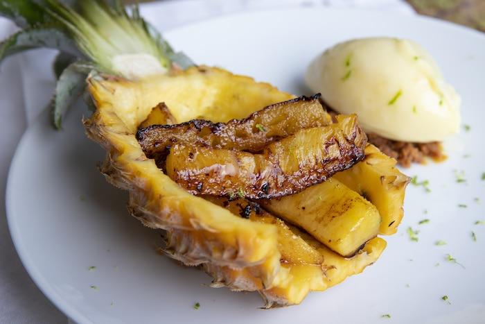 Ananas rôti Au Top