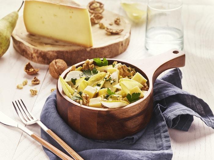 recette de Salade endives et raclette