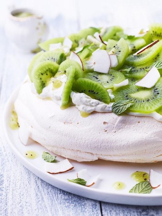 recette de Pavlova au kiwi