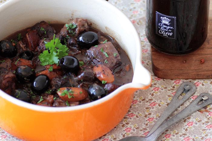 Bourguignon aux olives noires