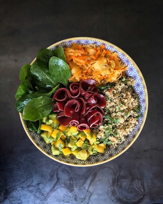 buddha bowl choucroute